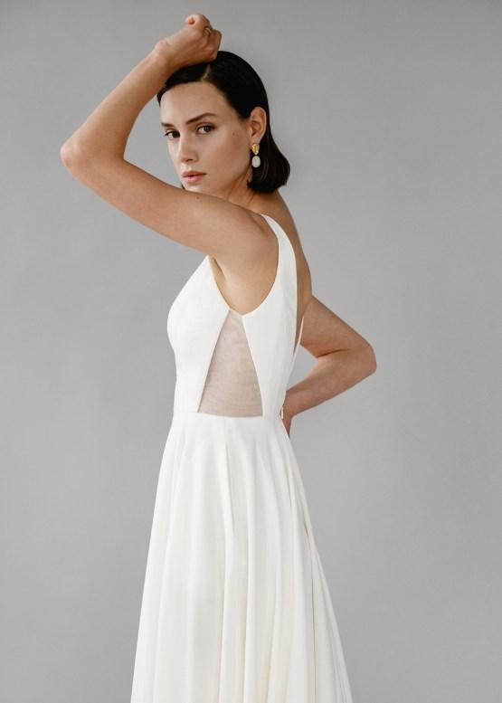 Modern Minimalist 2021 Wedding Dresses by Aesling Bride – Aurora Dress 2