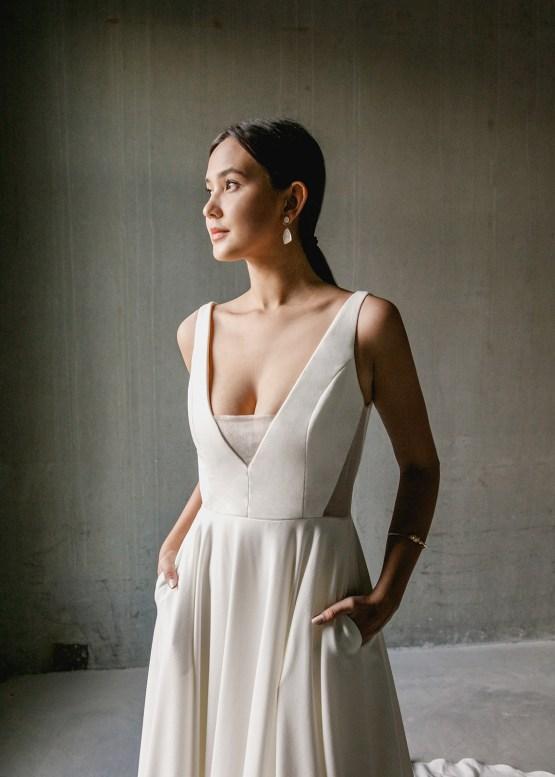 Modern Minimalist 2021 Wedding Dresses by Aesling Bride – Aurora Dress 3