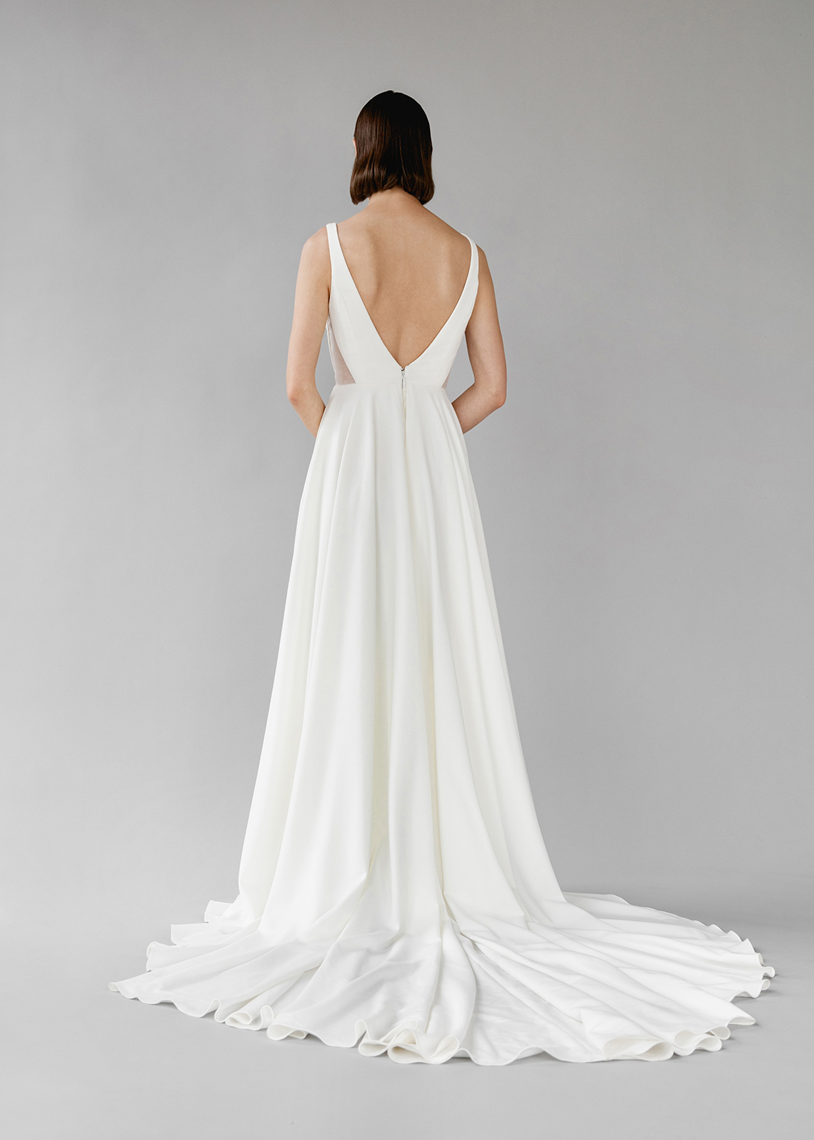 Modern Minimalist 2021 Wedding Dresses by Aesling Bride – Aurora Dress 4