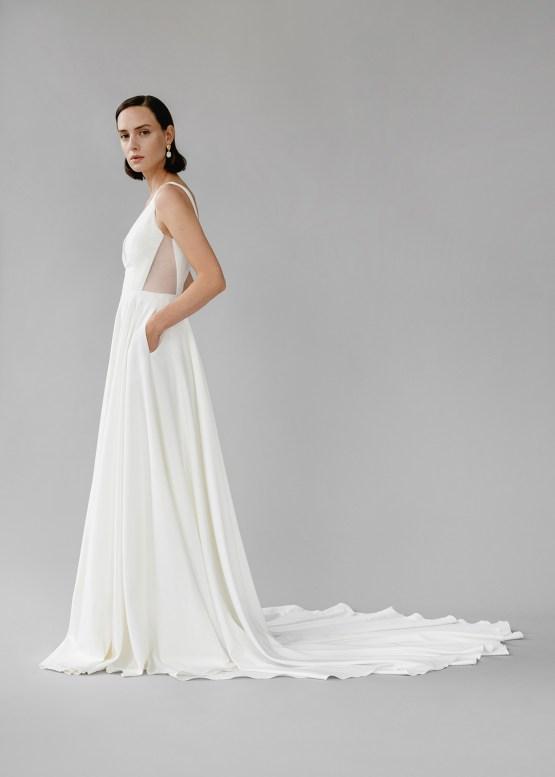 Modern Minimalist 2021 Wedding Dresses by Aesling Bride – Aurora Dress 5