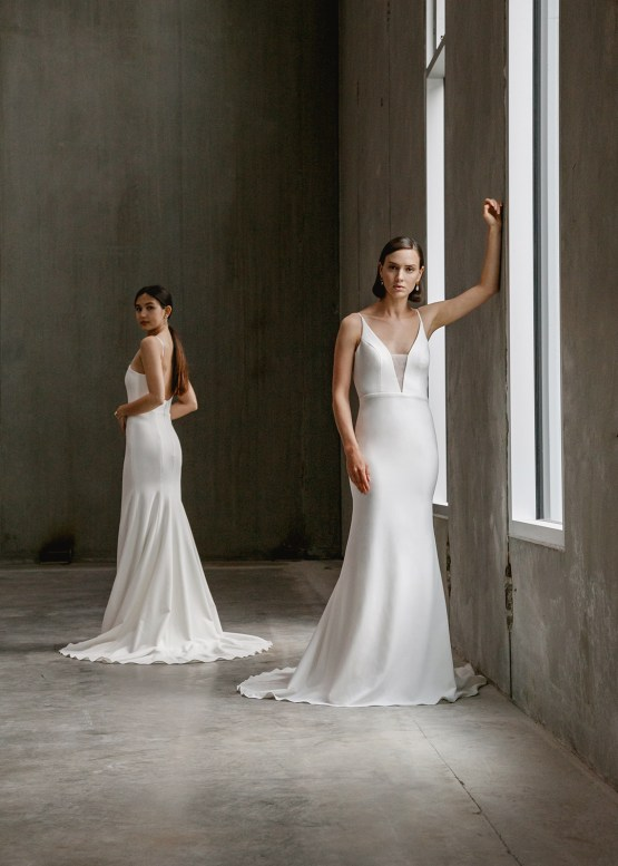 Modern Minimalist 2021 Wedding Dresses by Aesling Bride – Eunoia and Gossamer Dress