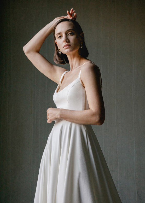 Modern Minimalist 2021 Wedding Dresses by Aesling Bride – Felicity Dress 1