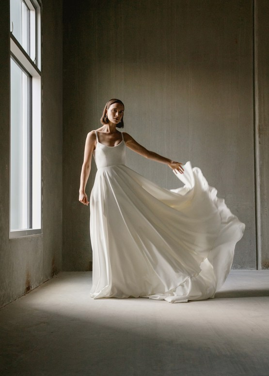 Modern Minimalist 2021 Wedding Dresses by Aesling Bride – Felicity Dress 2