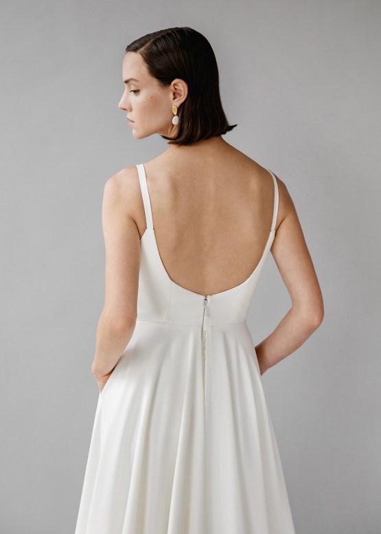 Modern Minimalist 2021 Wedding Dresses by Aesling Bride – Felicity Dress 3
