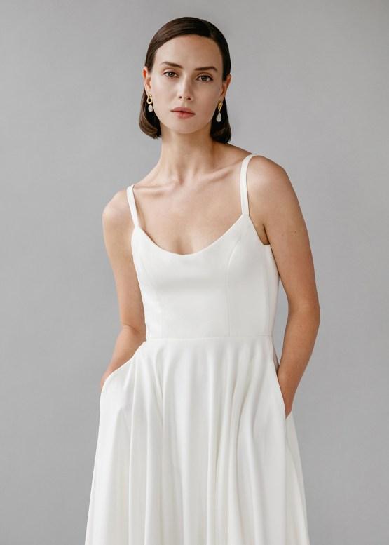 Modern Minimalist 2021 Wedding Dresses by Aesling Bride – Felicity Dress 4