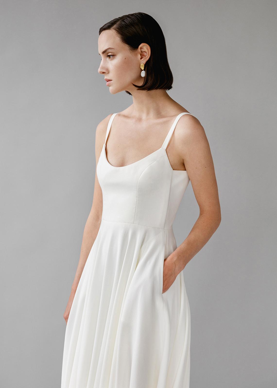 Modern Minimalist 2021 Wedding Dresses by Aesling Bride – Felicity Dress 5