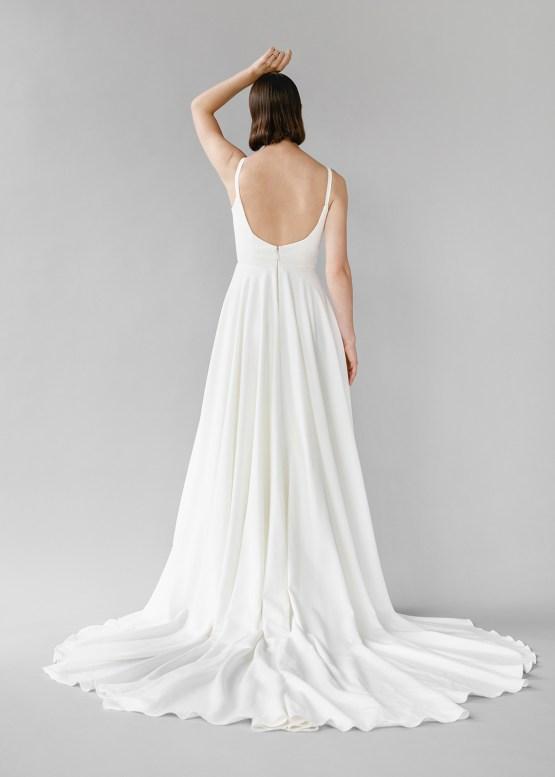 Modern Minimalist 2021 Wedding Dresses by Aesling Bride – Felicity Dress 6