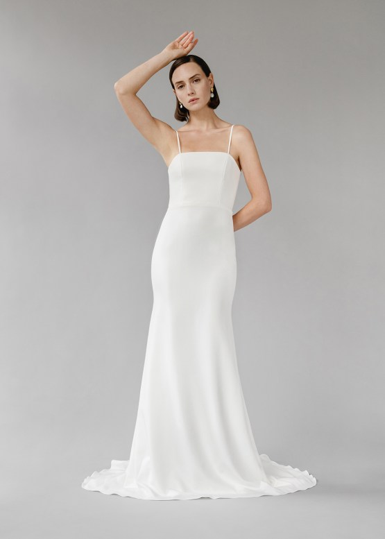Modern Minimalist 2021 Wedding Dresses by Aesling Bride – Gossamer Dress 4