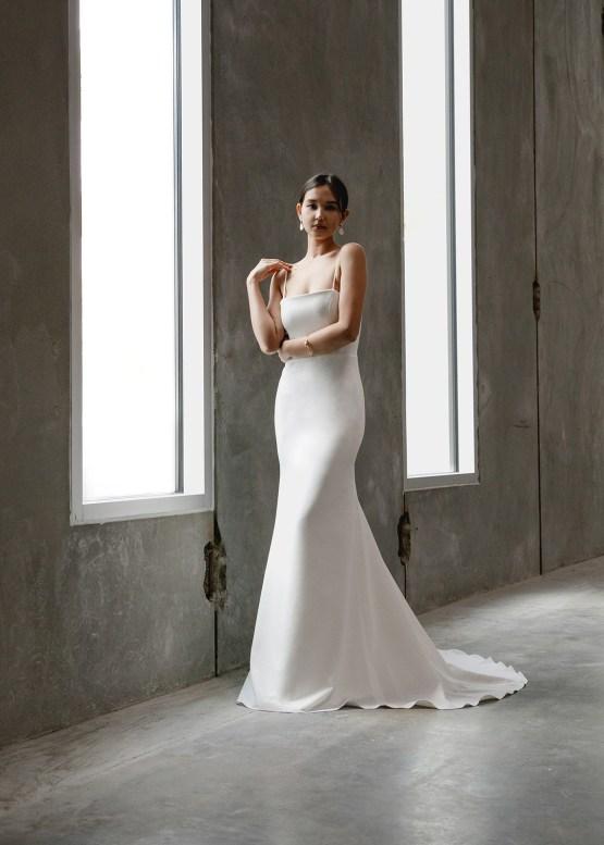 Modern Minimalist 2021 Wedding Dresses by Aesling Bride – Gossamer Dress 5