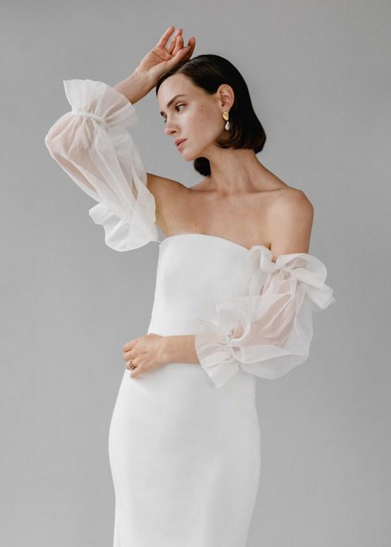 Modern Minimalist 2021 Wedding Dresses by Aesling Bride – Panacea Dress 4