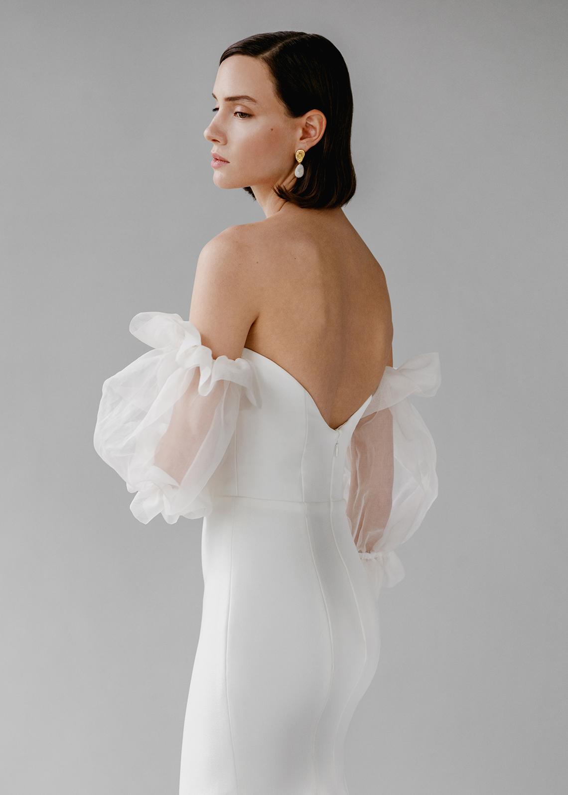 Modern Minimalist 2021 Wedding Dresses by Aesling Bride – Panacea Dress 5