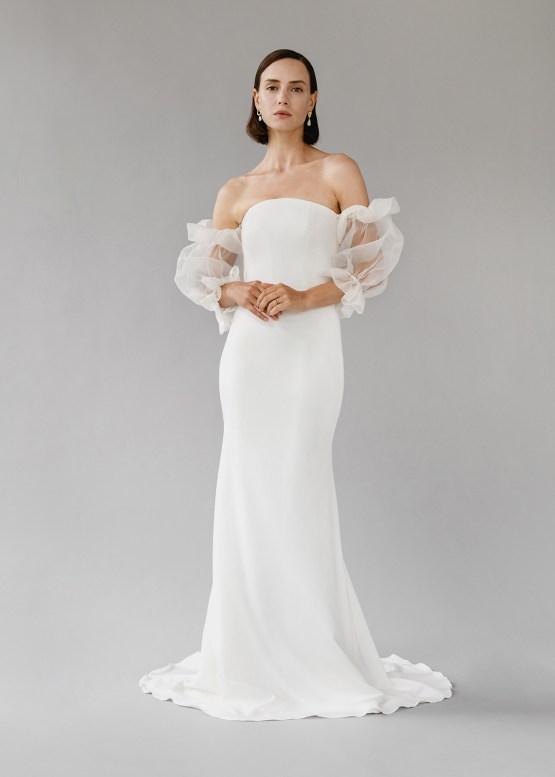 Modern Minimalist 2021 Wedding Dresses by Aesling Bride – Panacea Dress 7