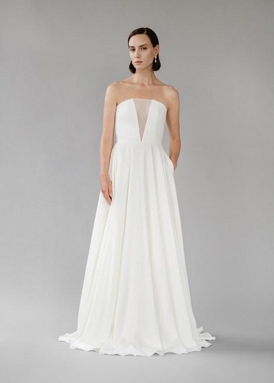 Modern Minimalist 2021 Wedding Dresses by Aesling Bride – Sonder Dress 5