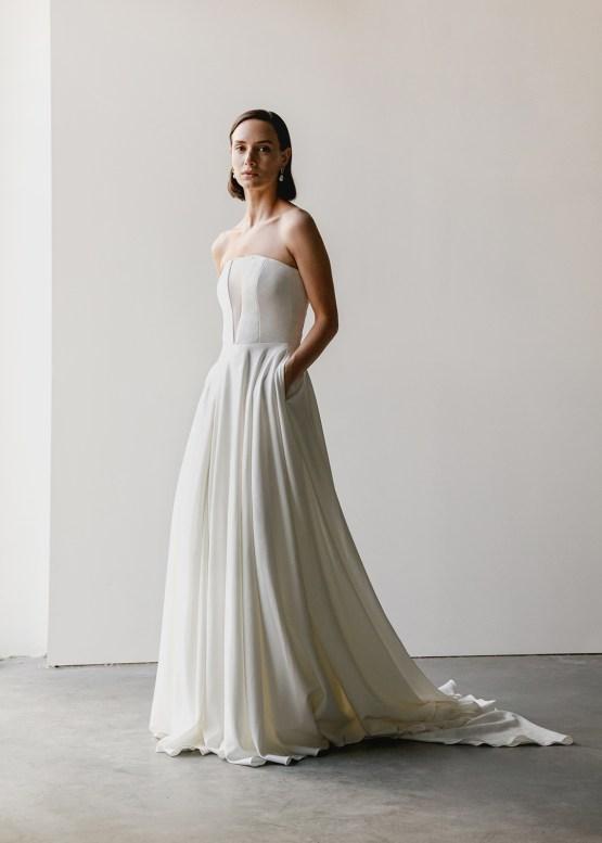 Modern Minimalist 2021 Wedding Dresses by Aesling Bride – Sonder Dress 6