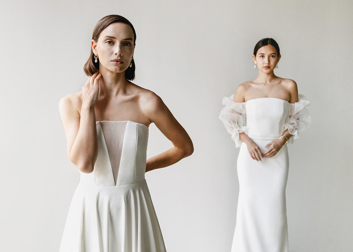 Modern Minimalist 2021 Wedding Dresses by Aesling Bride – Sonder and Panacea Dress