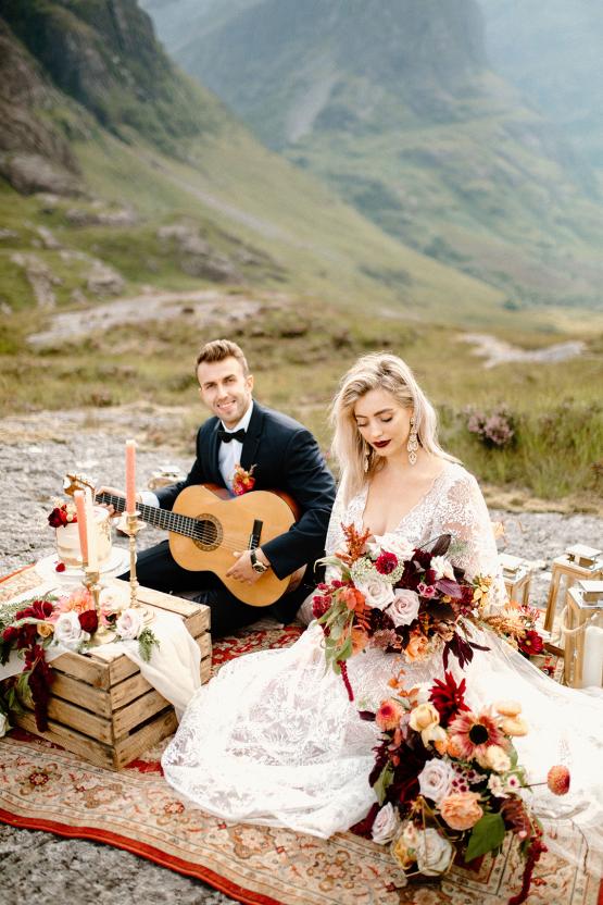 Stunning Scotland Highlands Elopement Inspiration – Alia PAIENDA – E and W Couture 17