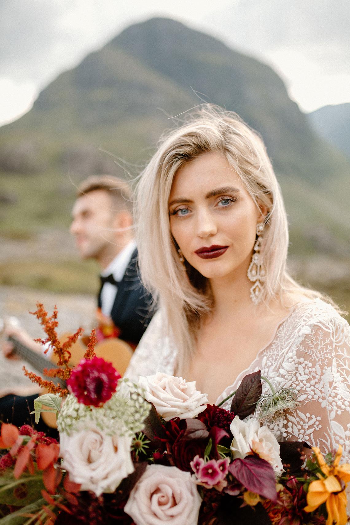 Stunning Scotland Highlands Elopement Inspiration – Alia PAIENDA – E and W Couture 18