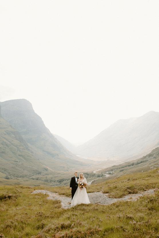 Stunning Scotland Highlands Elopement Inspiration – Alia PAIENDA – E and W Couture 20