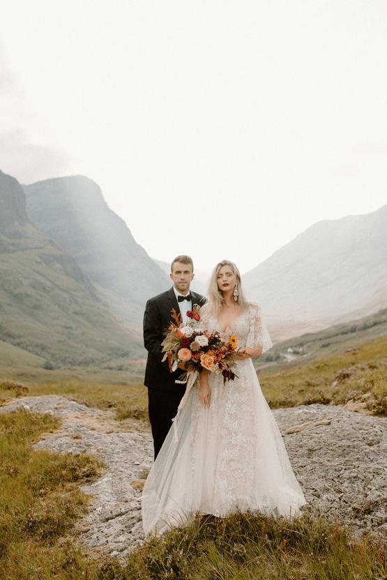 Stunning Scotland Highlands Elopement Inspiration – Alia PAIENDA – E and W Couture 22