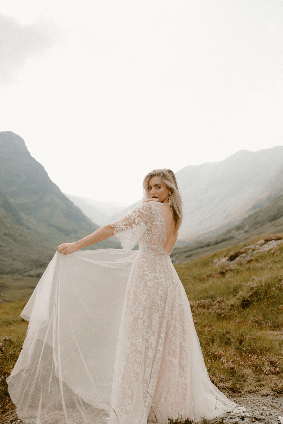 Stunning Scotland Highlands Elopement Inspiration – Alia PAIENDA – E and W Couture 25