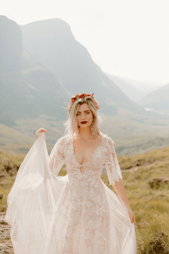 Stunning Scotland Highlands Elopement Inspiration – Alia PAIENDA – E and W Couture 28