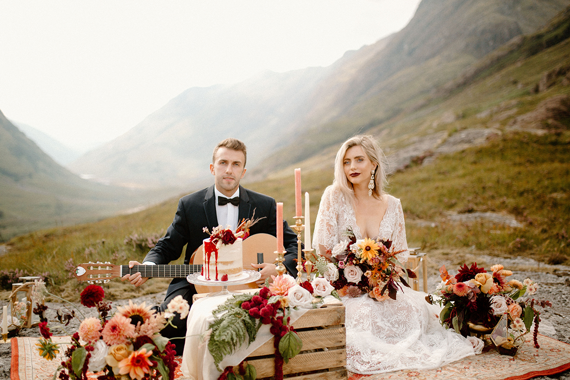 Stunning Scotland Highlands Elopement Inspiration – Alia PAIENDA – E and W Couture 3