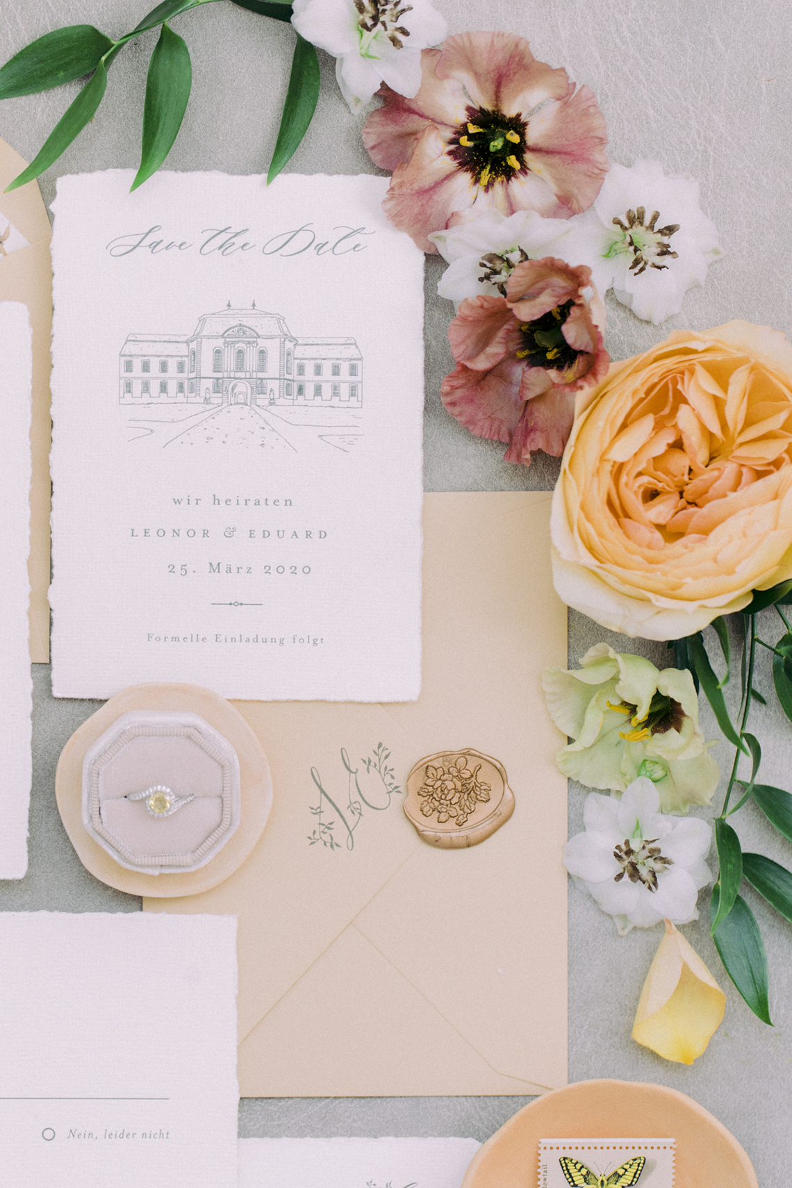 Elegant Blush Wedding Inspiration from a German Baroque Castle – Bonjour Paper – Anja Schneemann Photo 18