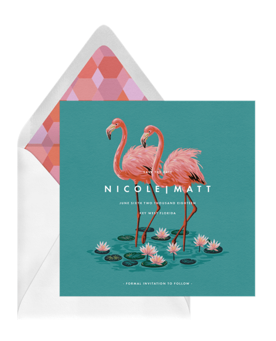 Everglades Save The Date – Greenvelope Digital Save The Date Wedding Invitations – Bridal Musings
