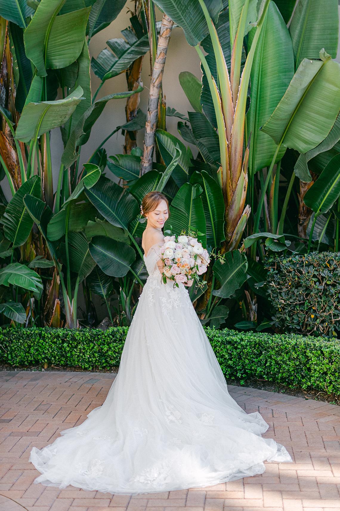 Incredible Floral Rich Pelican Hill Wedding – Brett Hickman Photography – Galia Lahav Real Bride 12