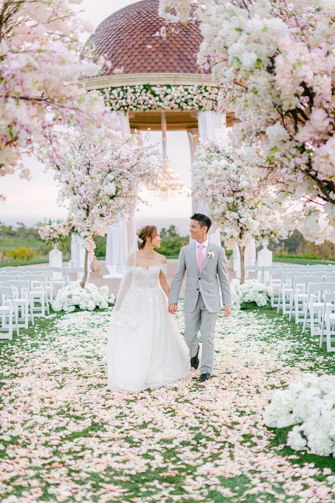 Incredible Floral Rich Pelican Hill Wedding – Brett Hickman Photography – Galia Lahav Real Bride 34