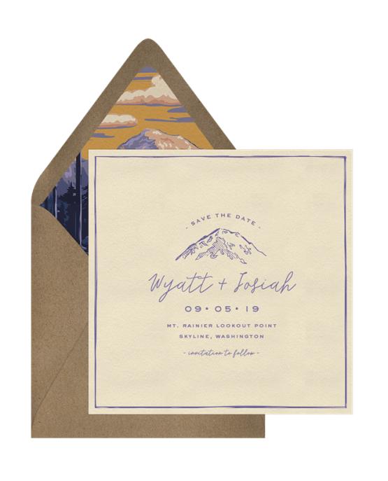 Mt Rainier Save The Date – Greenvelope Digital Save The Date Wedding Invitations – Bridal Musings