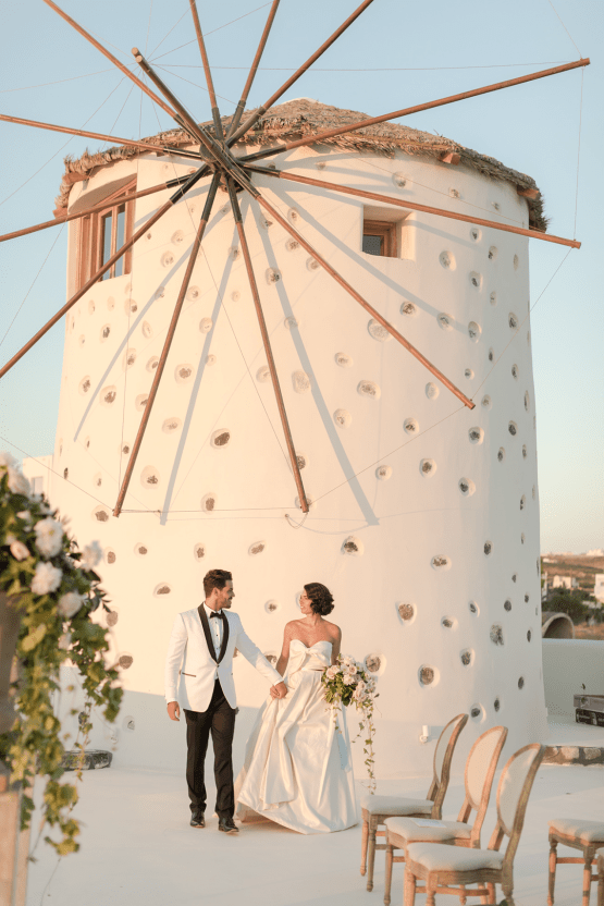 Pale Blue Greek Micro Wedding on the Cliffs of Santorini – Kimonas Photography 35