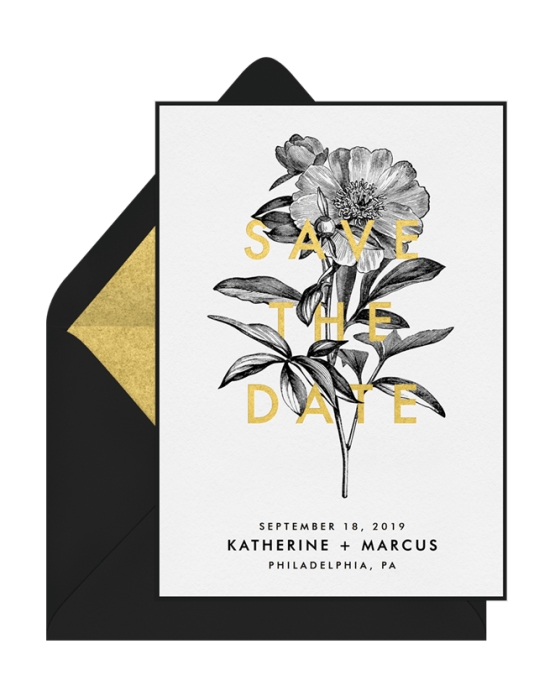 Simple Floral Save The Date – Greenvelope Digital Save The Date Wedding Invitations – Bridal Musings