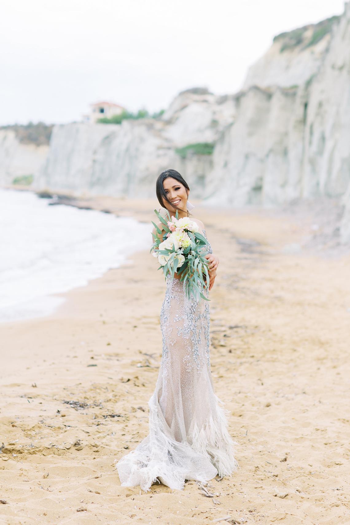 Breathtaking Greek Micro Wedding – Kefalonia Island – Vesi and Yiannis Simopoulos 57