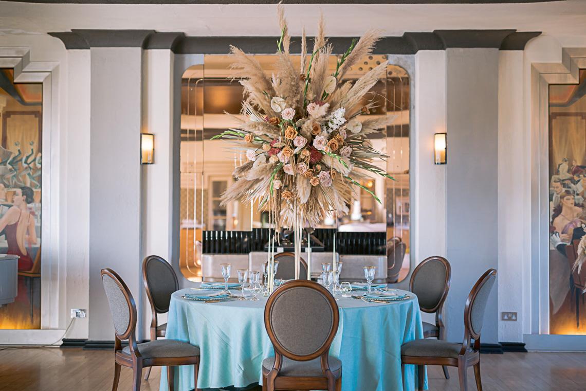 Modern Art Deco Wedding Inspiration at Burgh Island Hotel in Devon – Jennifer Jane Photography 2