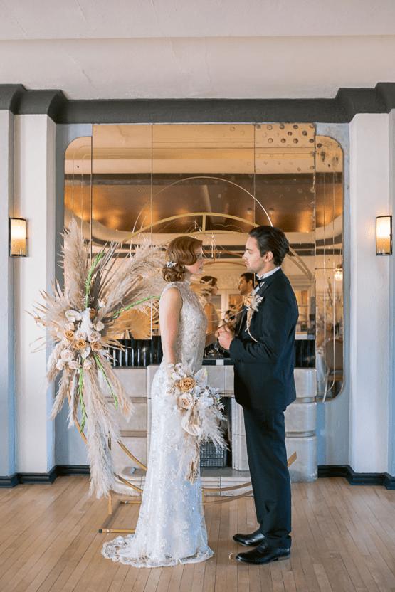 Modern Art Deco Wedding Inspiration at Burgh Island Hotel in Devon – Jennifer Jane Photography 30