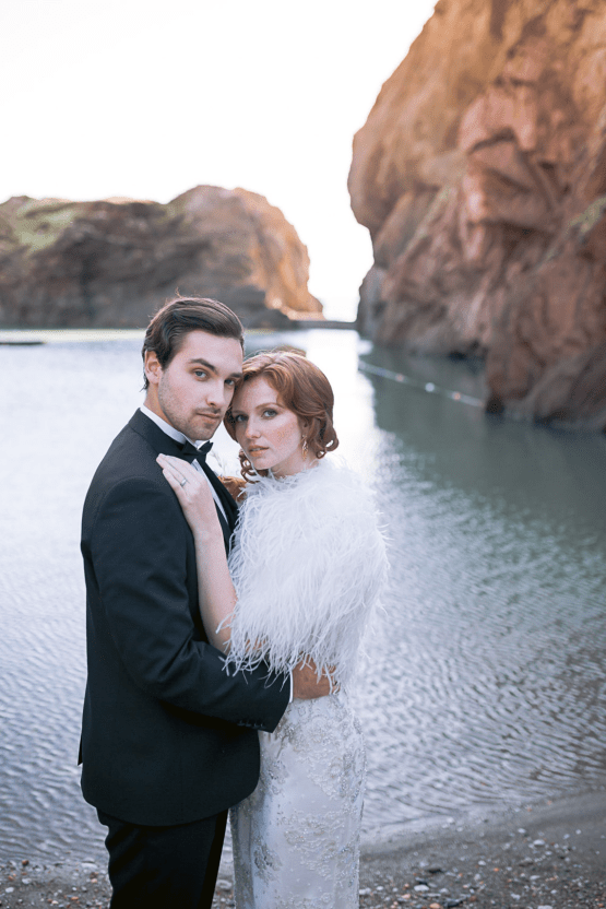 Modern Art Deco Wedding Inspiration at Burgh Island Hotel in Devon – Jennifer Jane Photography 36