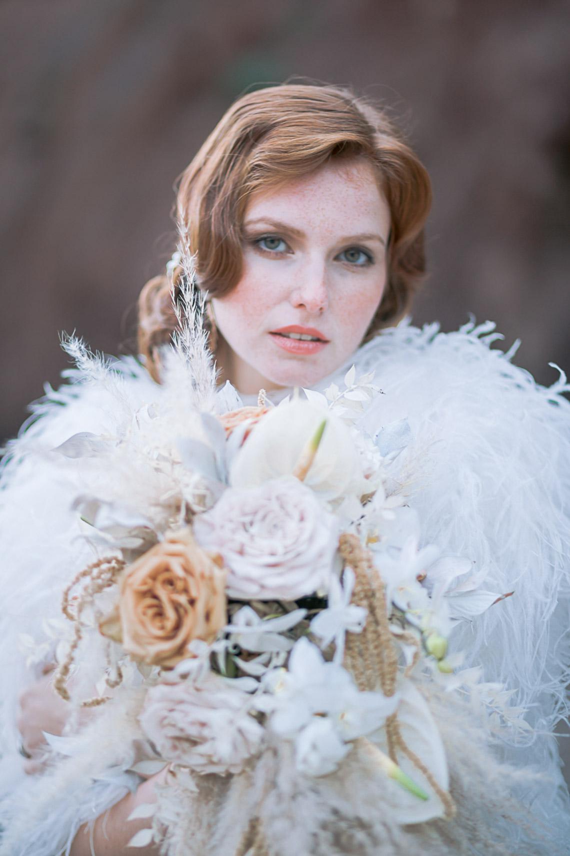 Modern Art Deco Wedding Inspiration at Burgh Island Hotel in Devon – Jennifer Jane Photography 41
