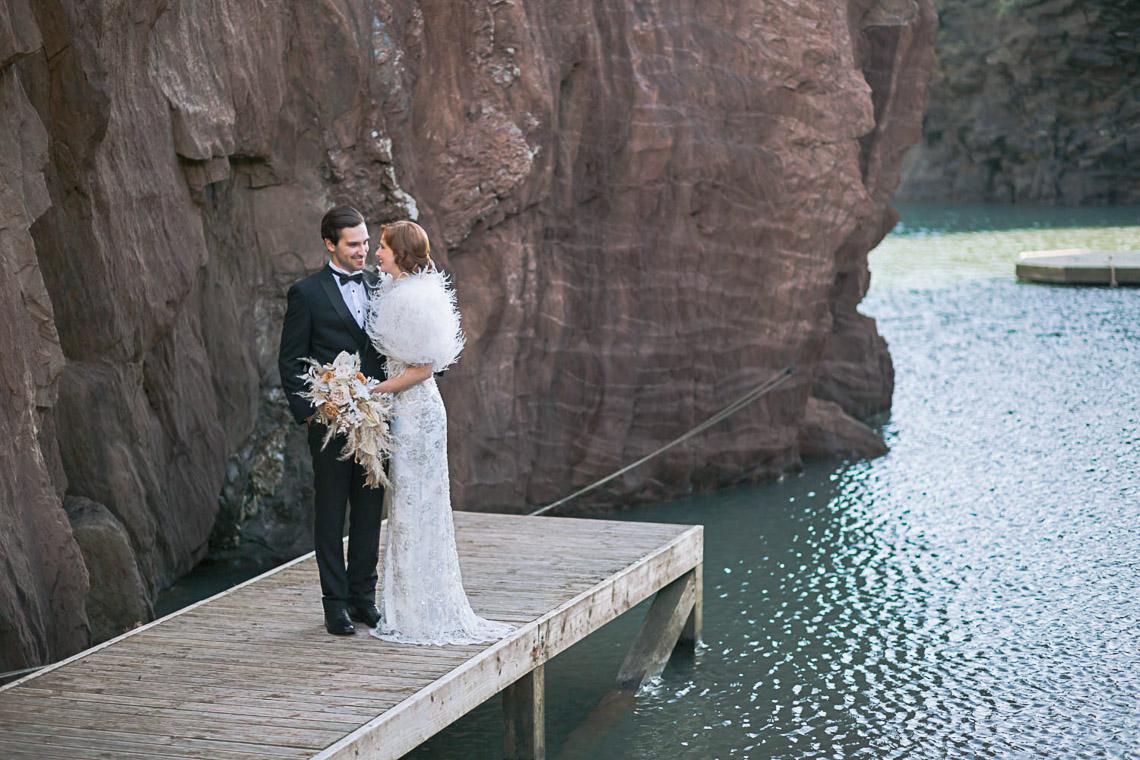 Modern Art Deco Wedding Inspiration at Burgh Island Hotel in Devon – Jennifer Jane Photography 6