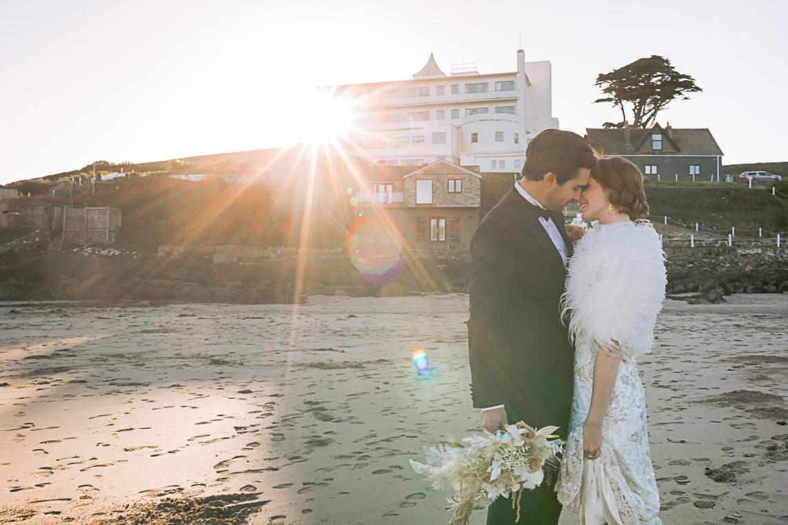 Modern Art Deco Wedding Inspiration at Burgh Island Hotel in Devon – Jennifer Jane Photography 9