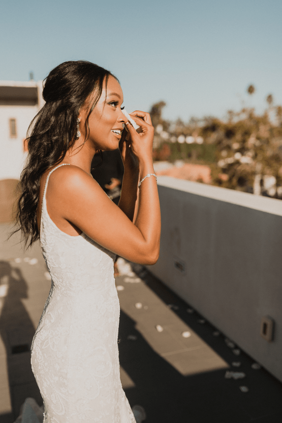 Modern Hollywood Rooftop Elopement During COVID-19 – Julia Green Photography 14