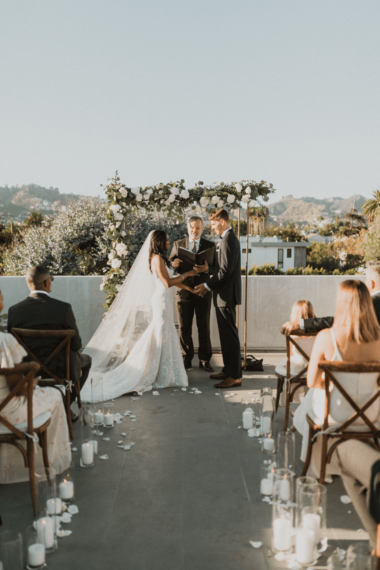Modern Hollywood Rooftop Elopement During COVID-19 – Julia Green Photography 18