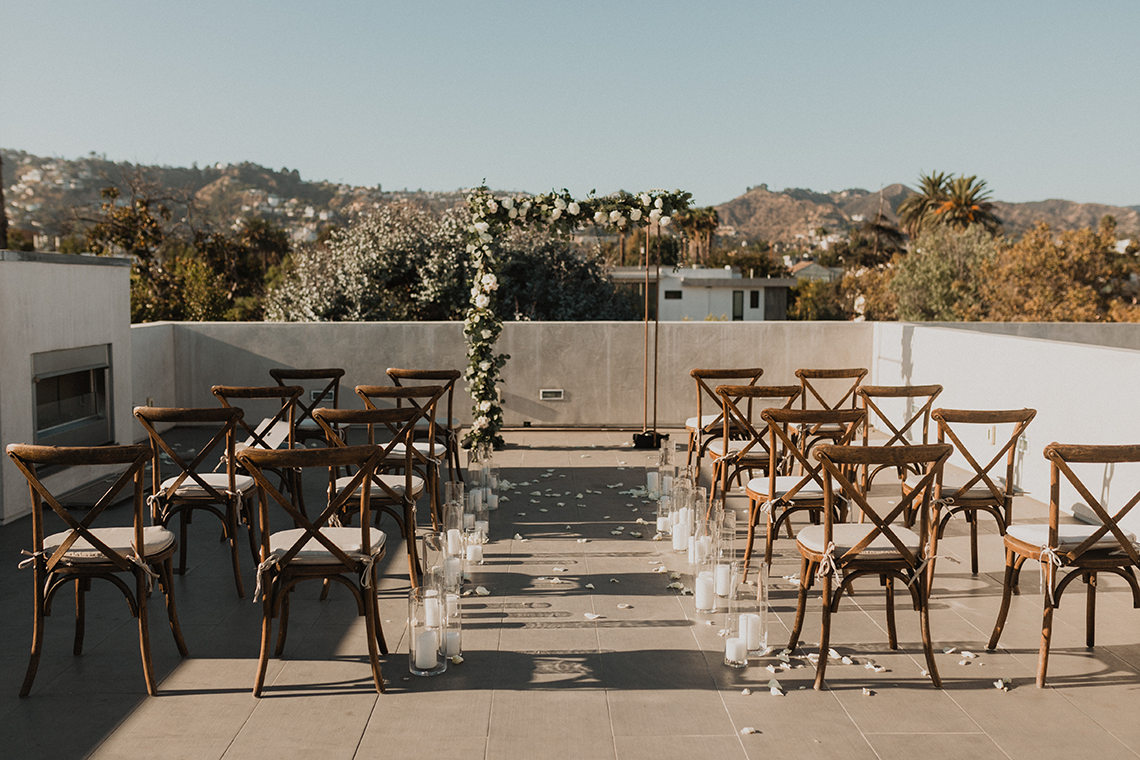Modern Hollywood Rooftop Elopement During COVID-19 – Julia Green Photography 2