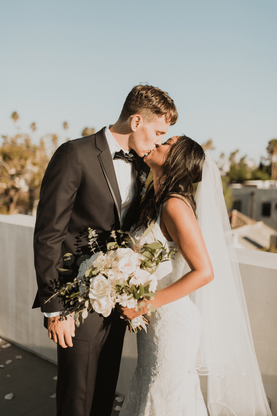 Modern Hollywood Rooftop Elopement During COVID-19 – Julia Green Photography 25