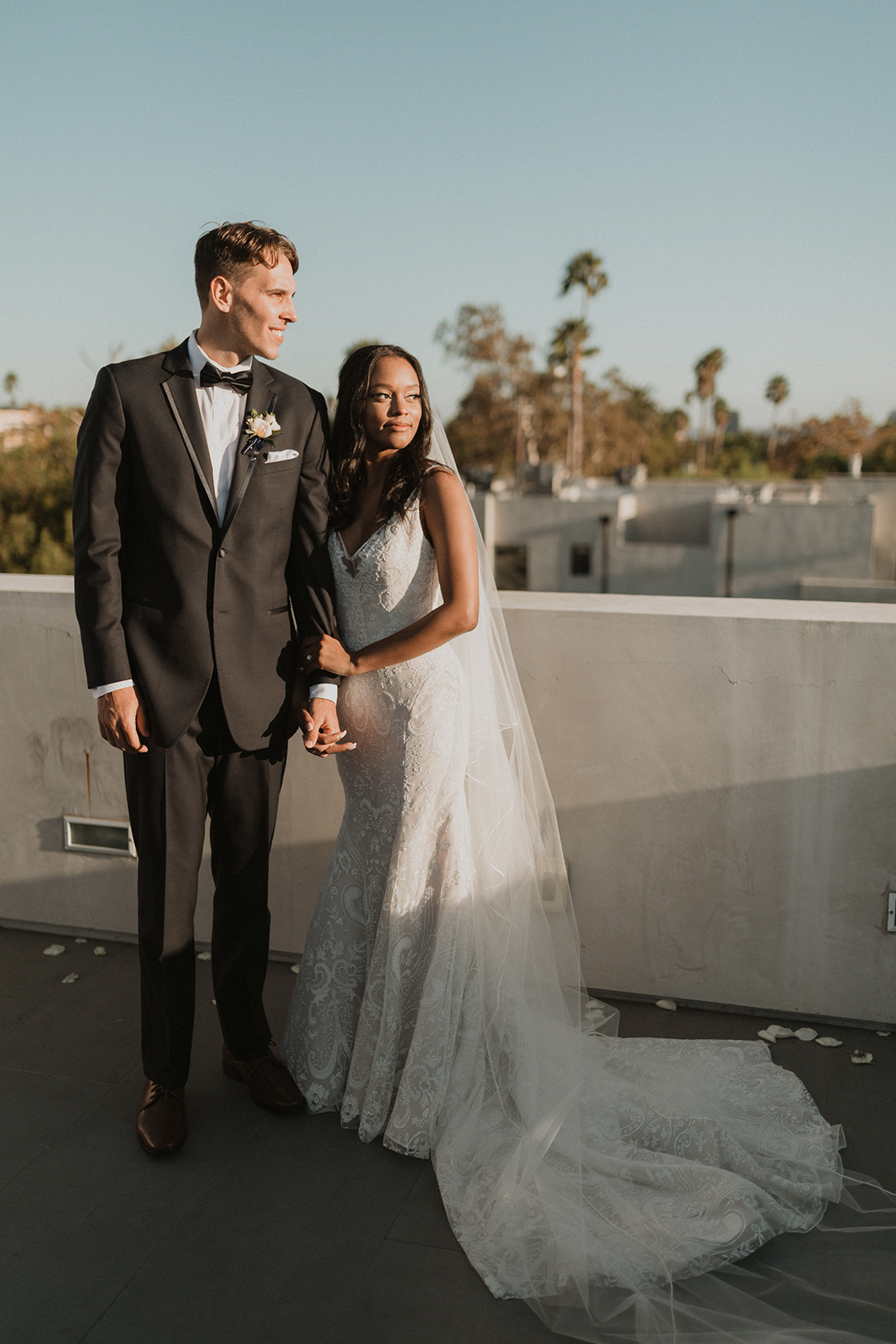 Modern Hollywood Rooftop Elopement During COVID-19 – Julia Green Photography 26