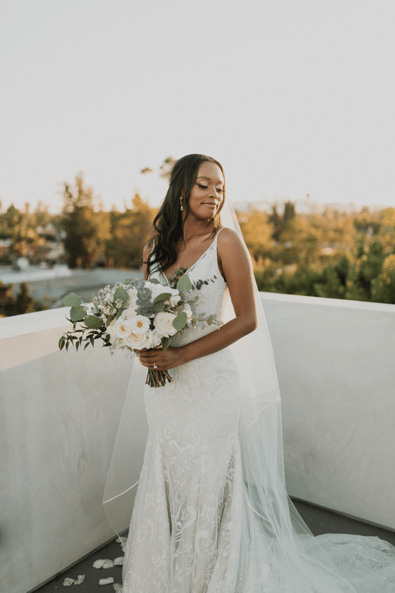Modern Hollywood Rooftop Elopement During COVID-19 – Julia Green Photography 34