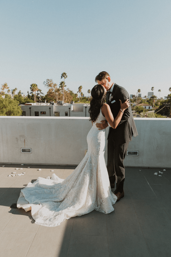 Modern Hollywood Rooftop Elopement During COVID-19 – Julia Green Photography 4