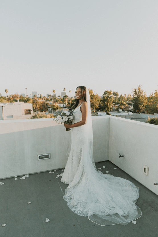 Modern Hollywood Rooftop Elopement During COVID-19 – Julia Green Photography 5