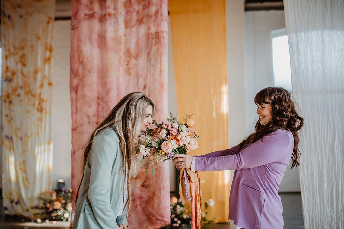 Zesty Colorful Same Sex Wedding Inspiration – Miz Sylvia – Camilla Andrea Photography 1
