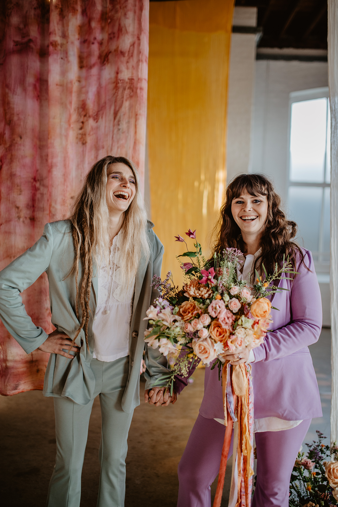 Zesty Colorful Same Sex Wedding Inspiration – Miz Sylvia – Camilla Andrea Photography 14
